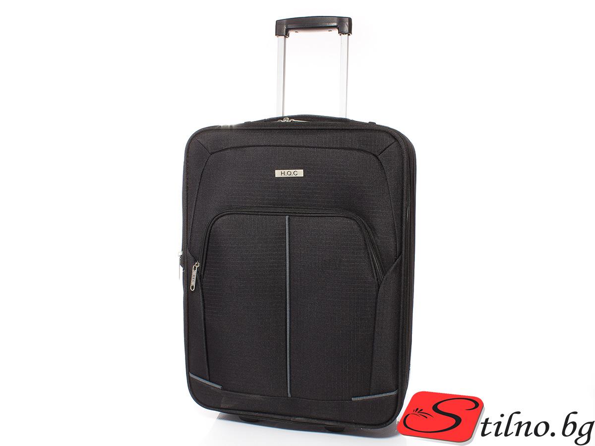 Куфар за ръчен багаж 55/37/18 T1005-08 - Черен