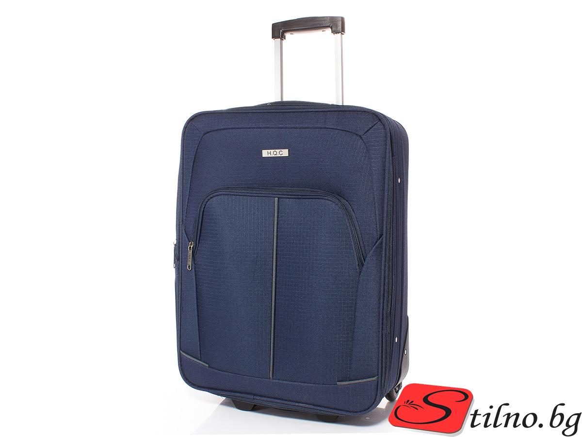 Куфар за ръчен багаж 55/37/18 T1005-24 - Тъмносин