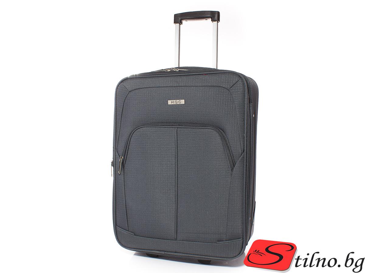 Куфар за ръчен багаж 55/37/18 T1005-34 - Тъмносив