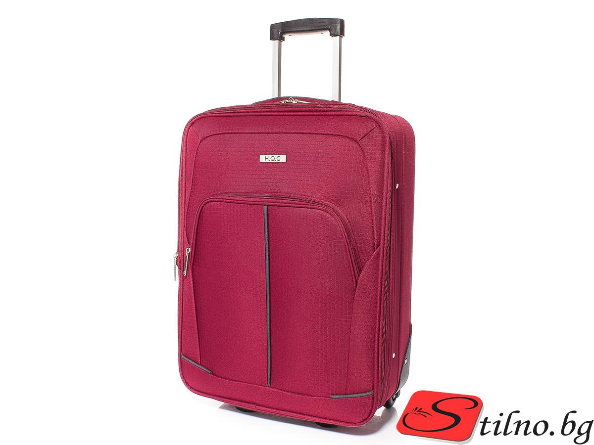 Куфар за ръчен багаж 55/37/18 T1005-40 - Тъмночервен