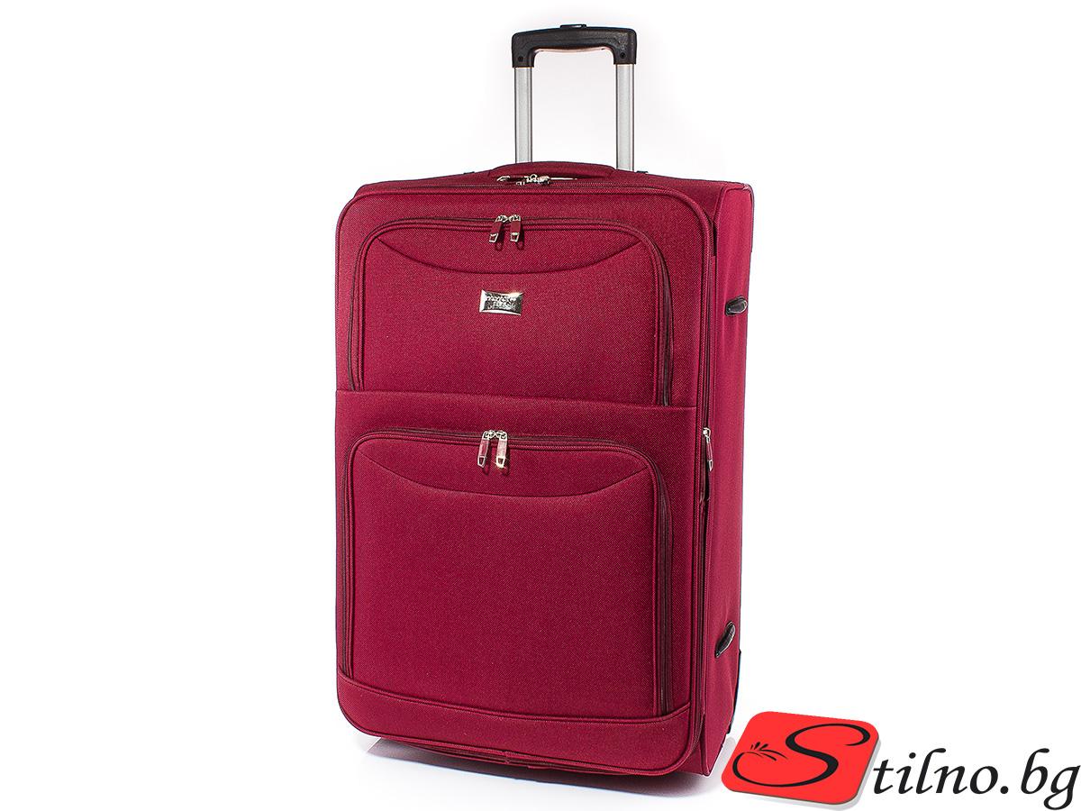Куфар Perfect line 72/45/27  T1006L-40 - Тъмночервен