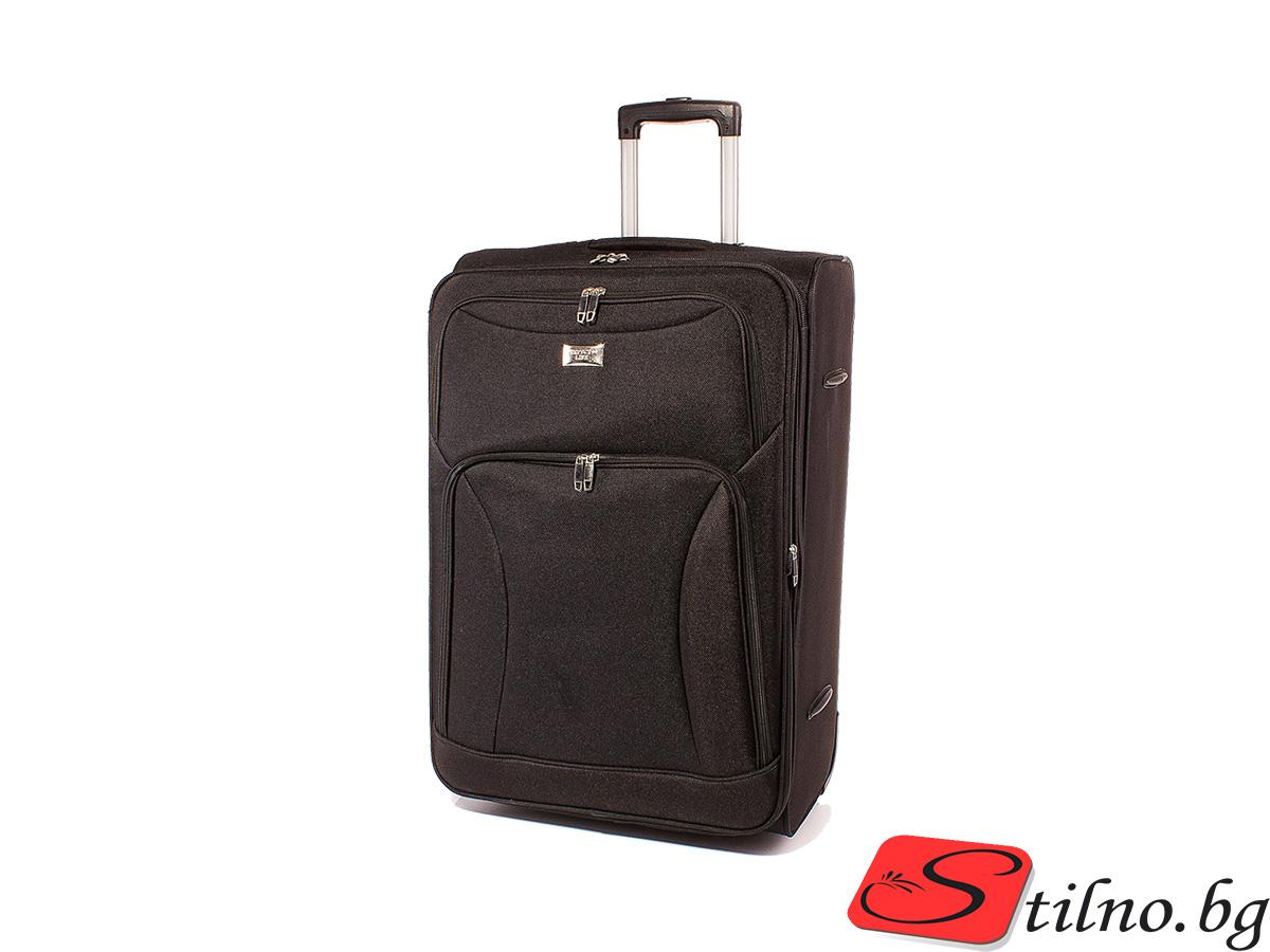 Куфар за ръчен багаж 52/36/21  T1006S-08 - Черен