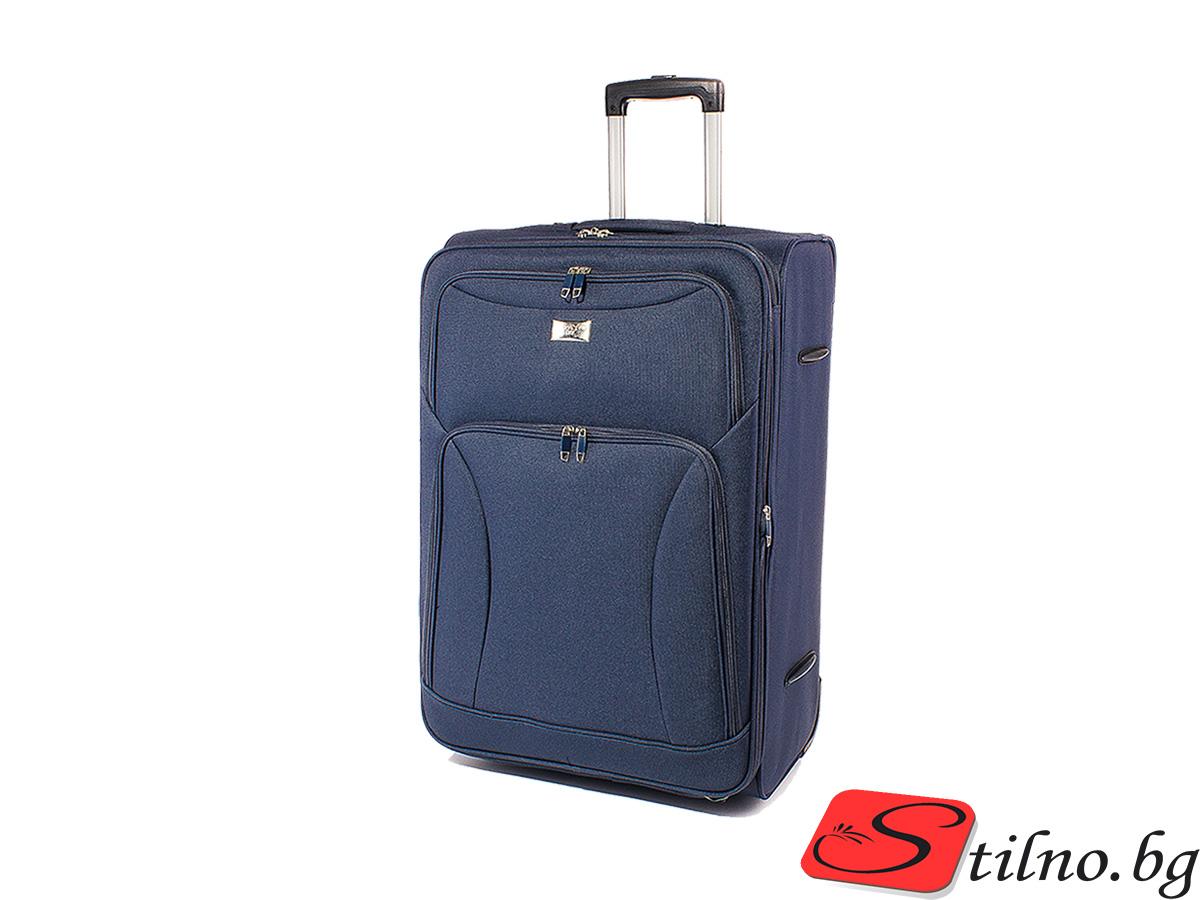 Куфар за ръчен багаж 52/36/21  T1006S-24 - Тъмносин