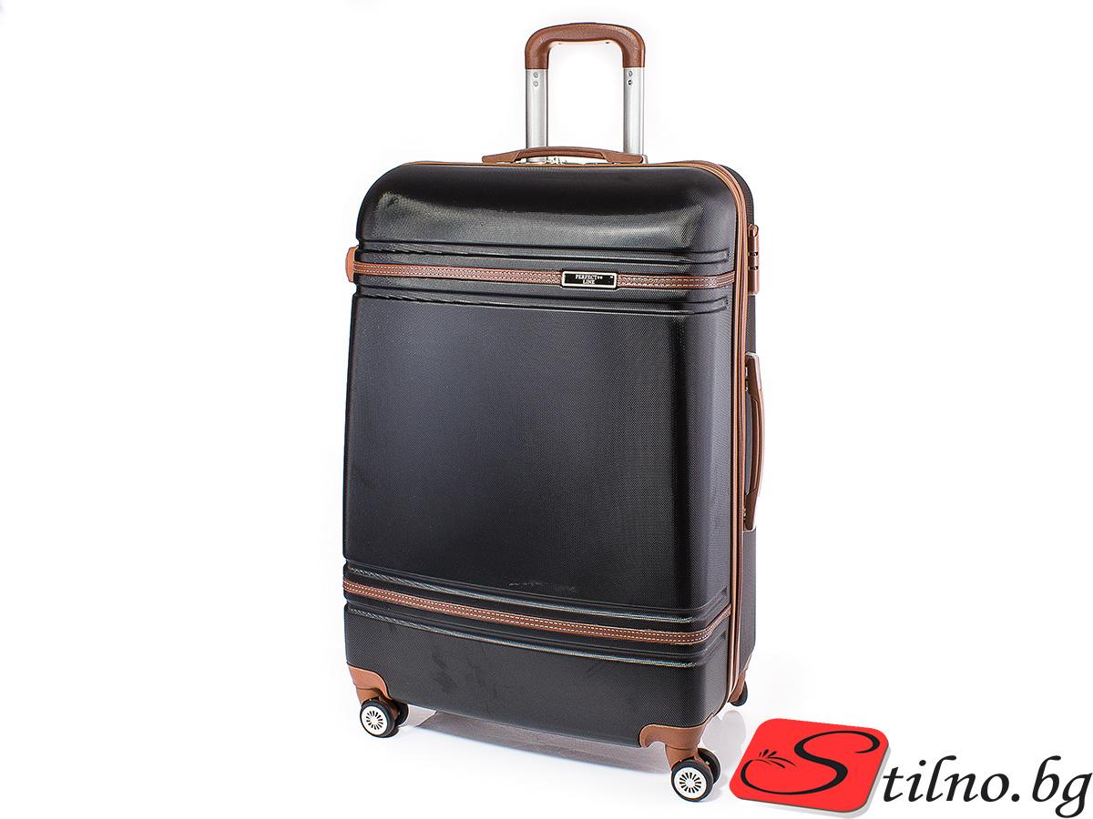 Куфар Perfect line 73/46/27 T1007L-08 - Черен