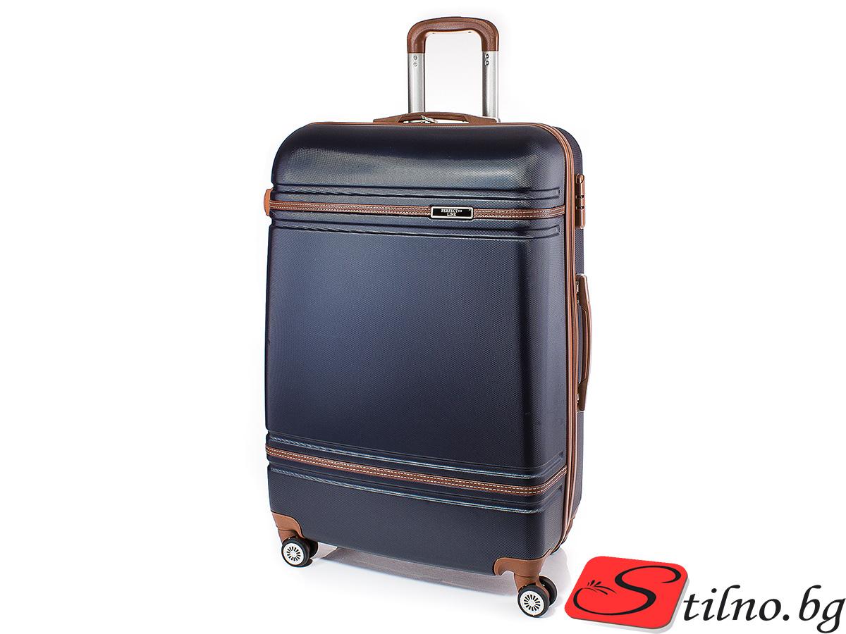Куфар Perfect line 73/46/27 T1007L-24 - Тъмносин