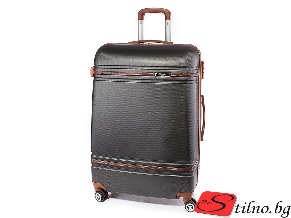 Куфар Perfect line 73/46/27 T1007L-34 - Тъмносив
