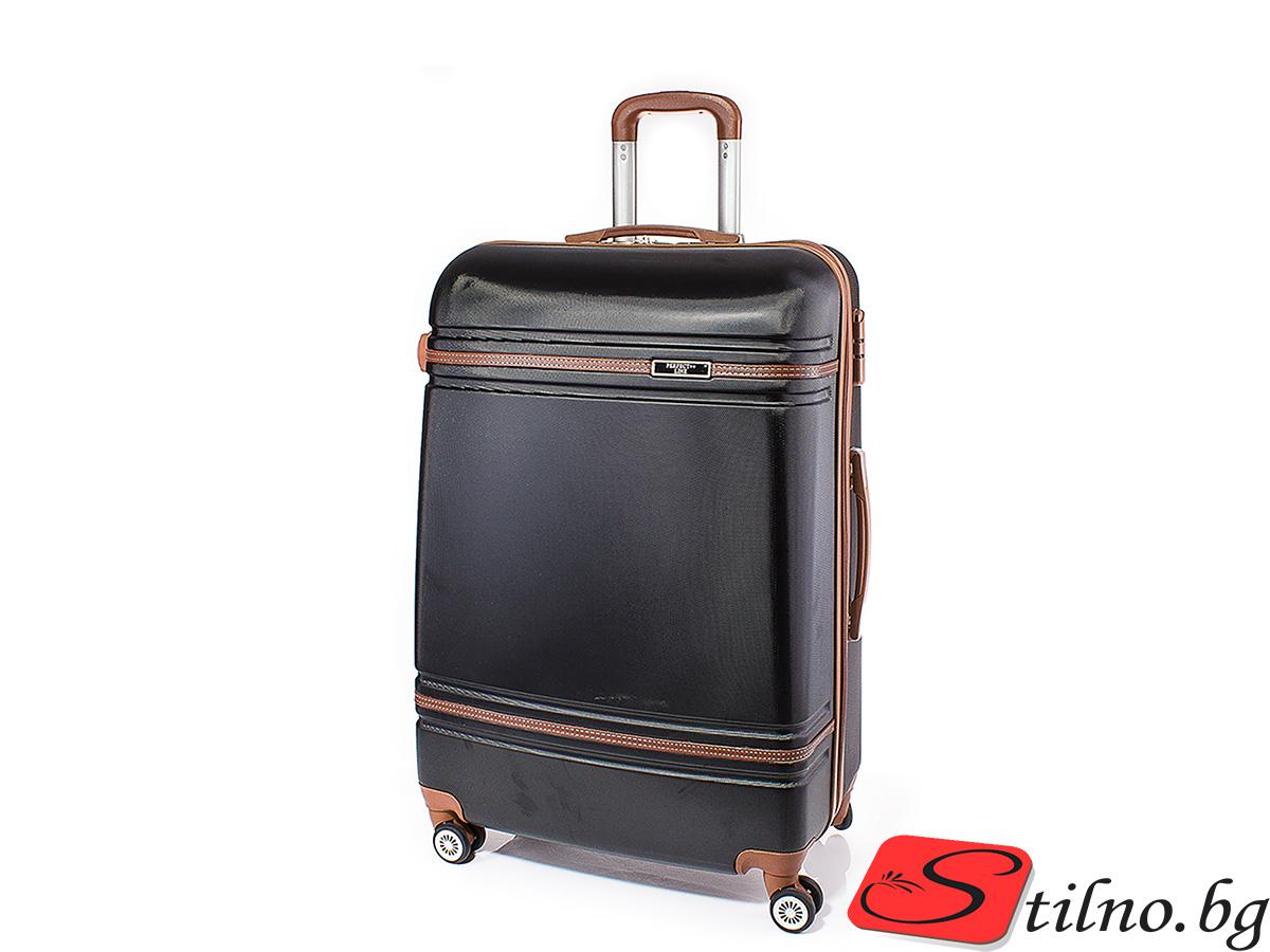 Куфар Perfect line 62/41/24 T1007M-08 - Черен