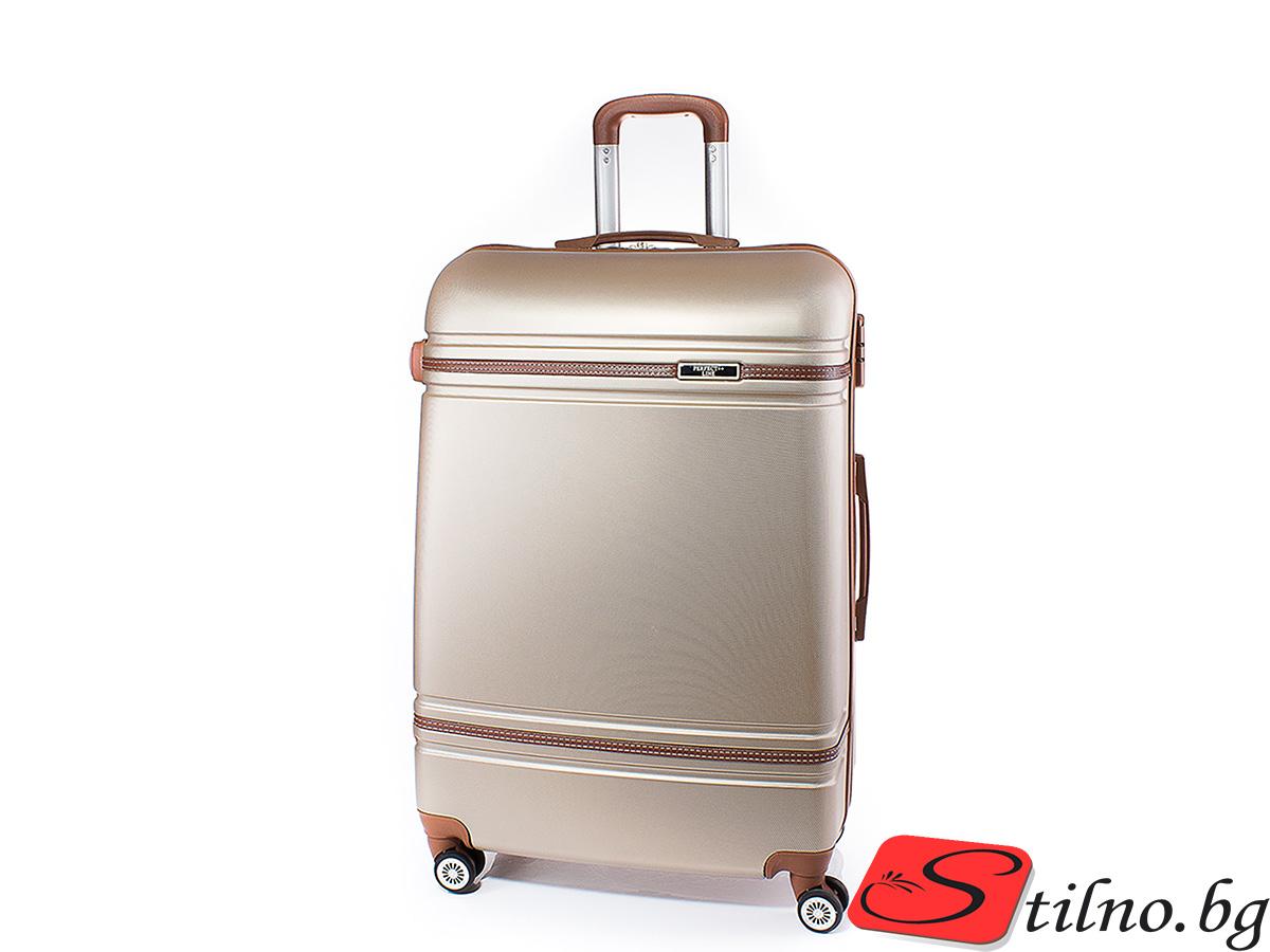 Куфар Perfect line 62/41/24 T1007M-12 - Златист