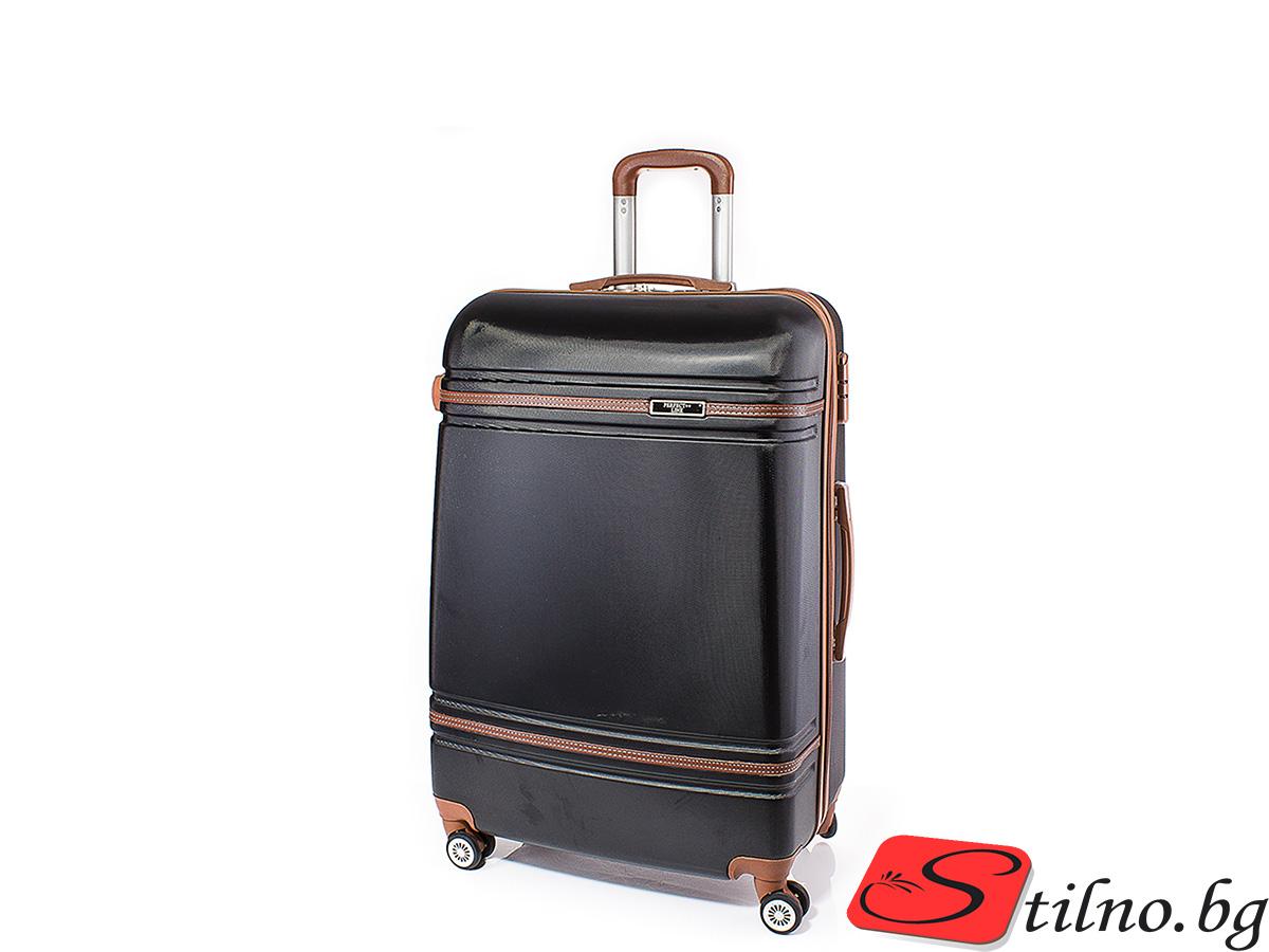 Куфар Perfect line 54/34/22 T1007S-08 - Черен