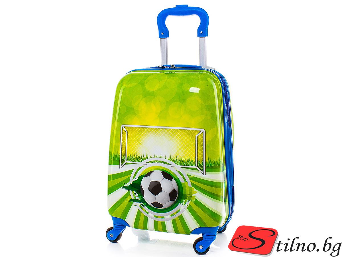 Детски куфар Perfect line 46/30/21 T1010-09 - Зелен