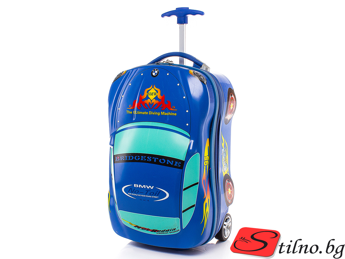 Детски куфар Perfect line 50/26,5/19 T1011-24 - Тъмносин