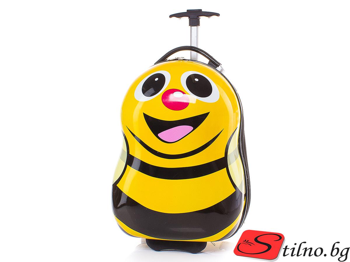 Детски куфар Perfect line 46/30/21 T1012-13 - Жълт