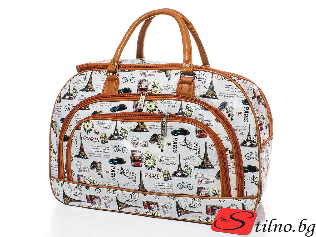 Пътна чанта T3008-00 - Цветна
