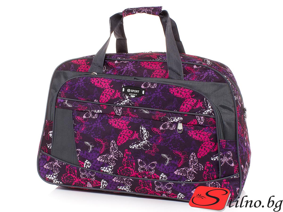 Пътна чанта T3025-20 - Лилавa