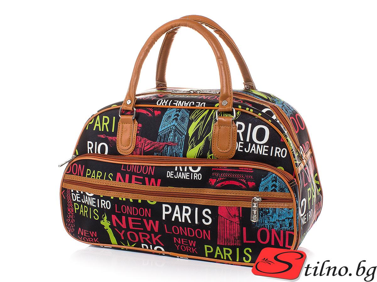 Пътна чанта T3031S-00 - Цветна