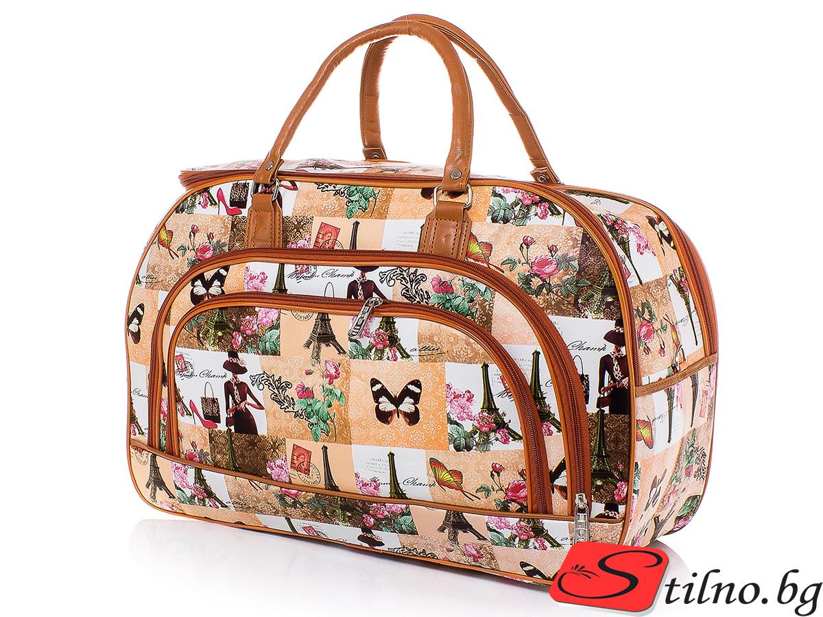 Пътна чанта T3033-00 - Цветна