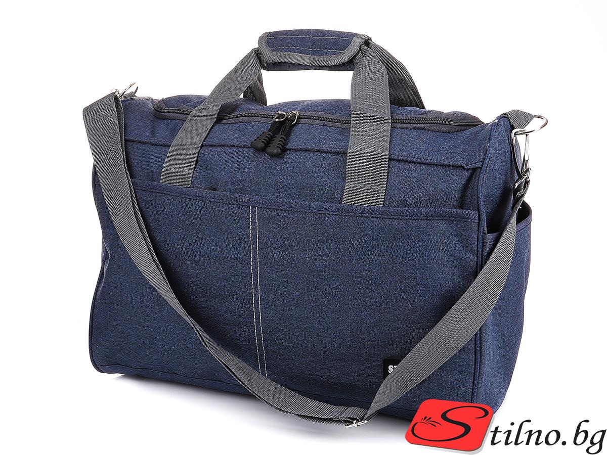 Чанта за ръчен багаж T3035-24 - Тъмносиня