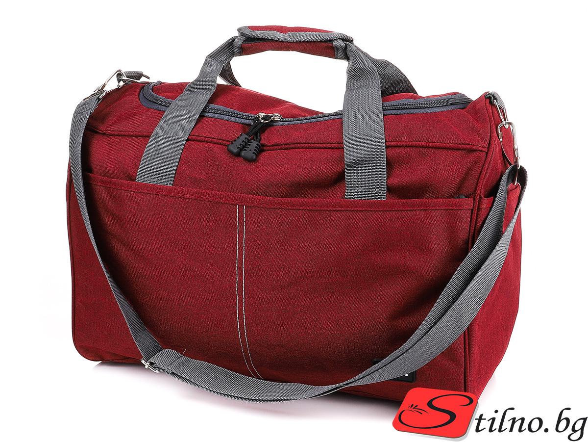 Чанта за ръчен багаж T3035-40 - Тъмночерена