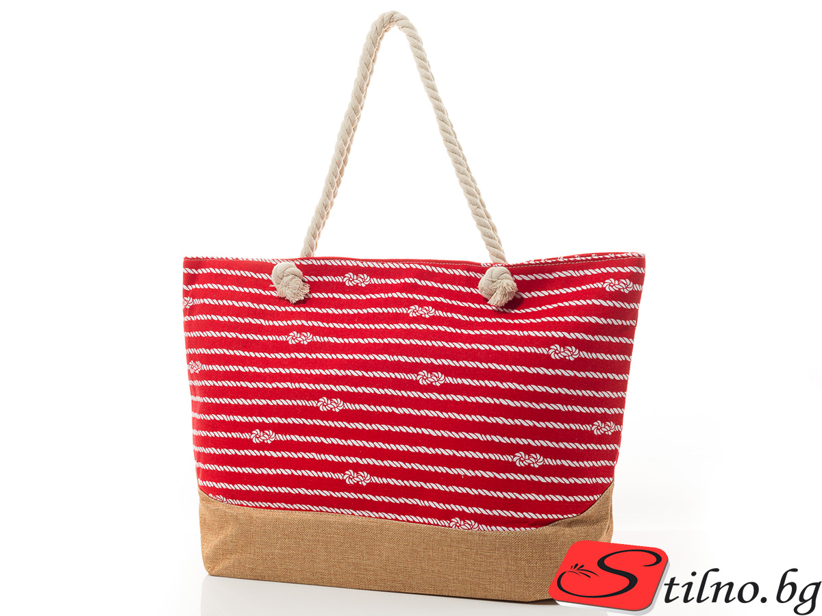 Плажна Чанта Stilno 5003-05 - Червена