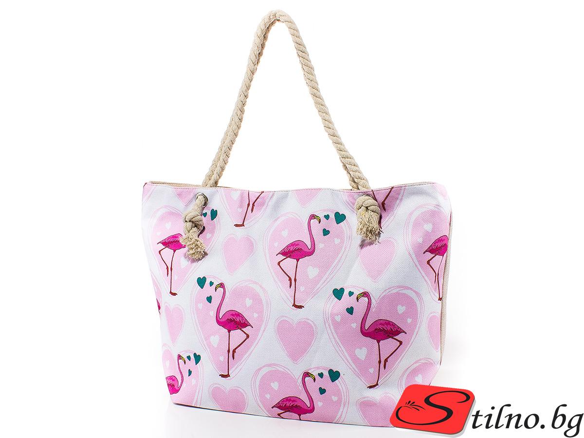 Плажна чанта 5041-01 - Бяла