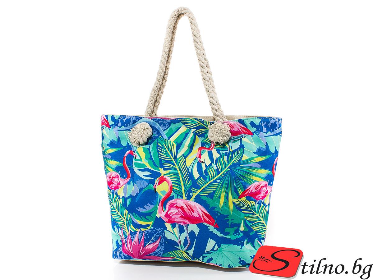Плажна чанта 5056-00 - Цветна