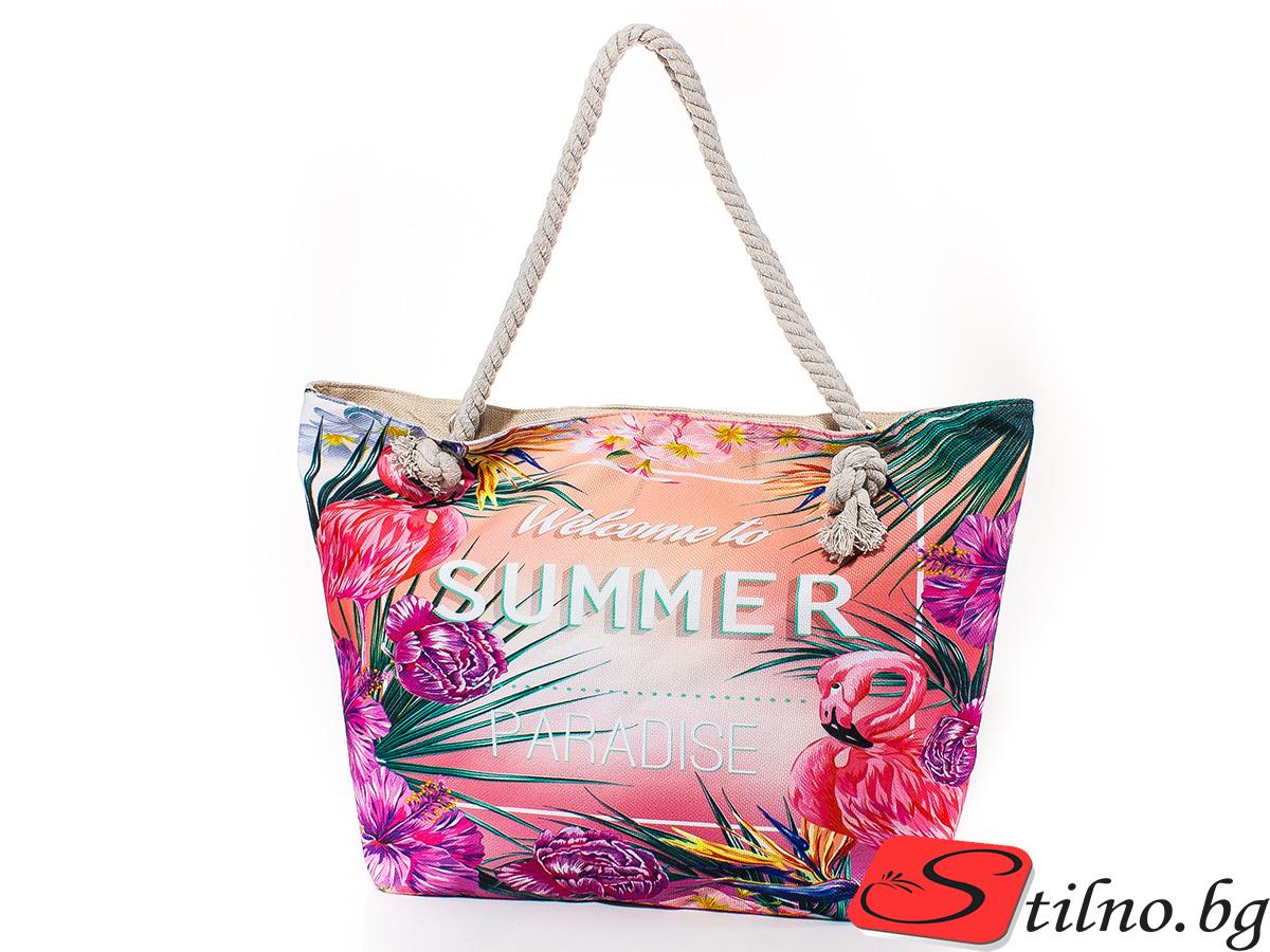 Плажна чанта 5059-00 - Цветна