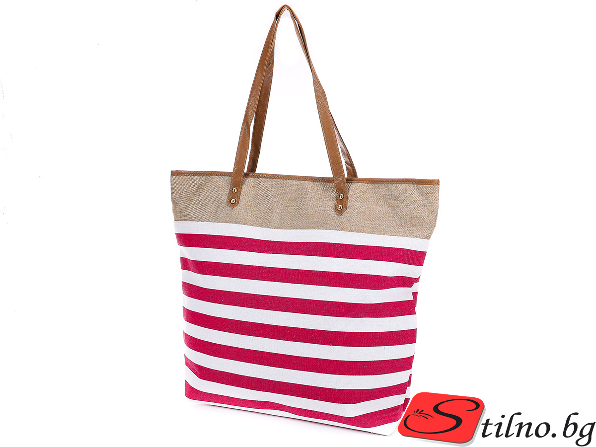Плажна чанта 5089-07 - Розова