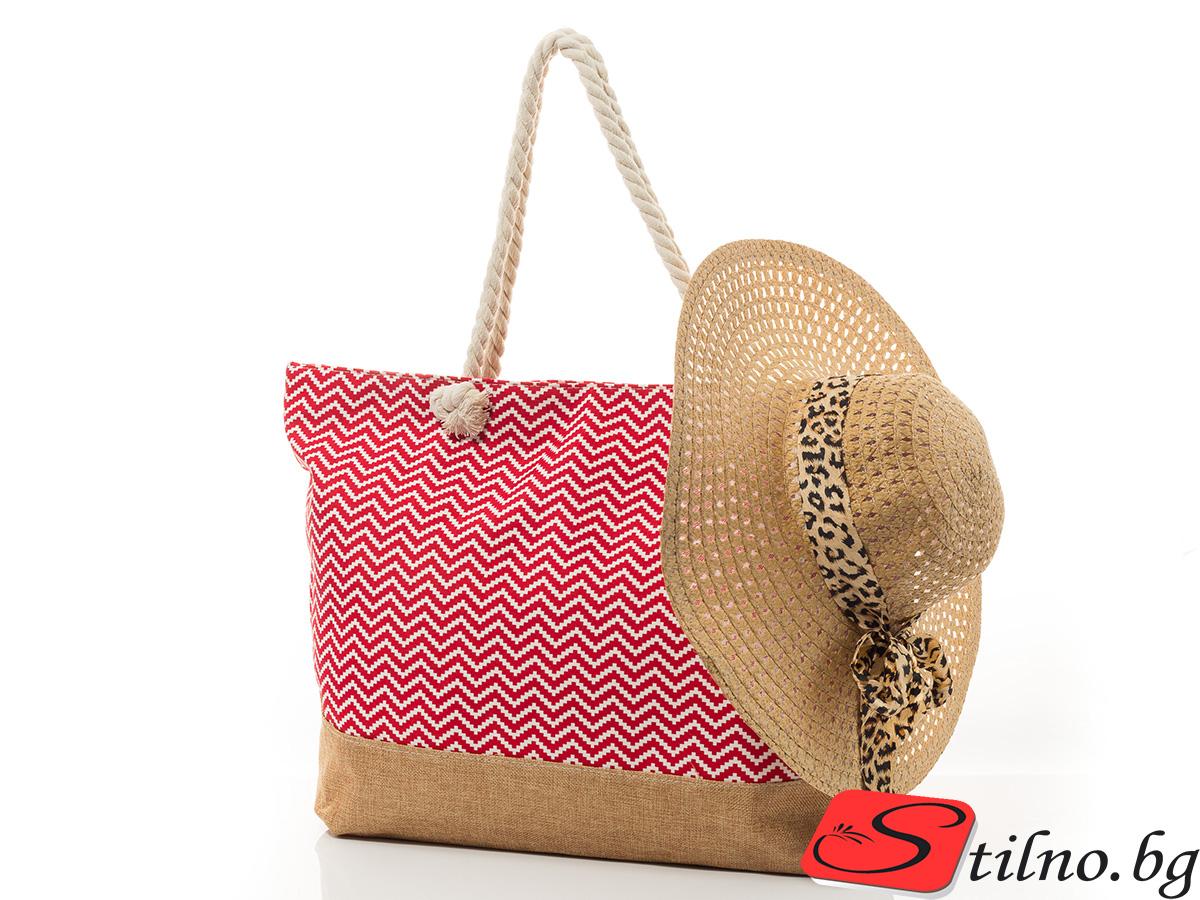 Плажен Комплект Дюни P5002-05 - Червен