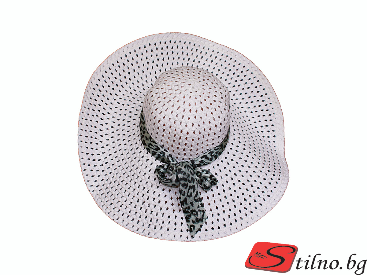 Плажна шапка Бети H1006-01 - Бяла