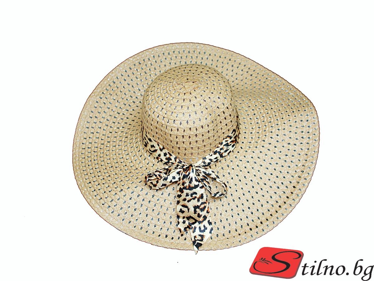 Плажна шапка Бети H1006-10 - Камел