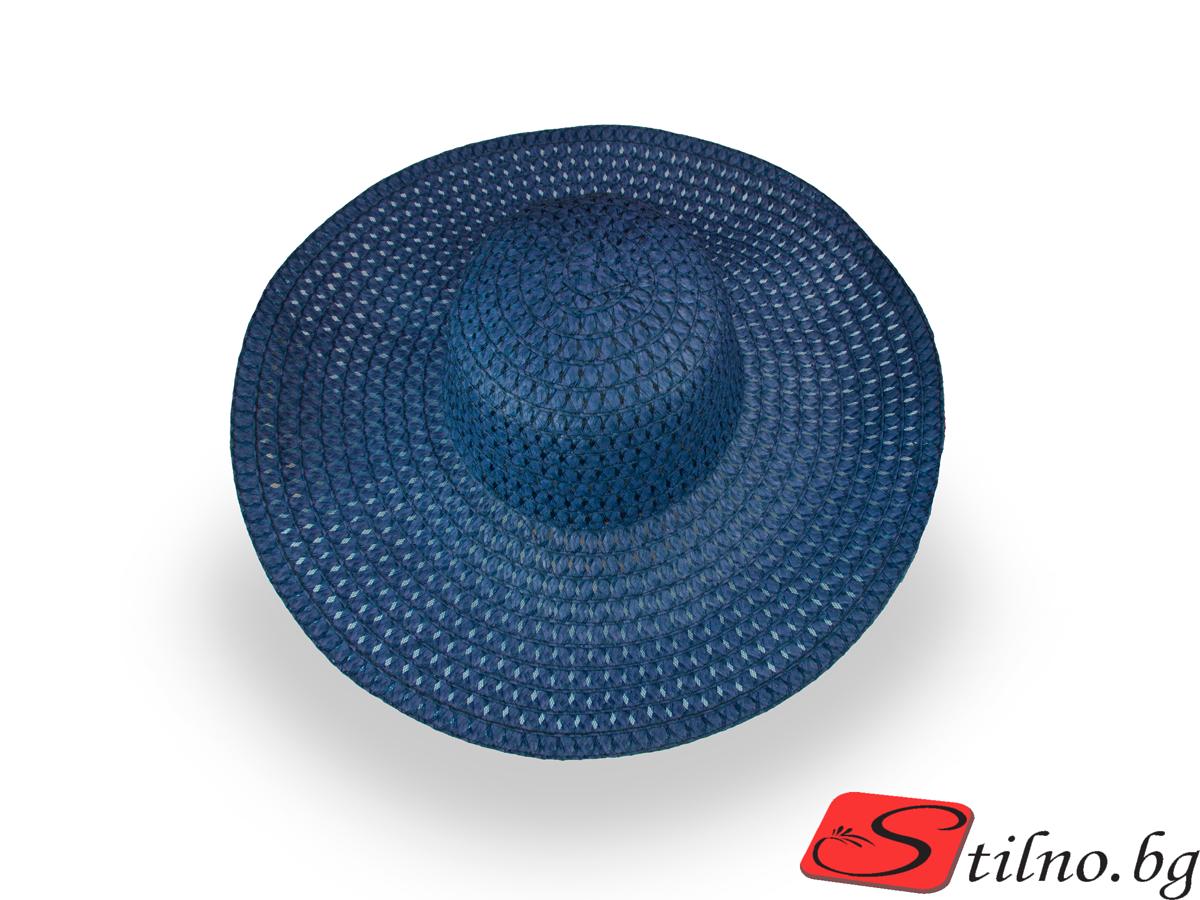 Плажна шапка Бети H1006-24 - Тъмно синя