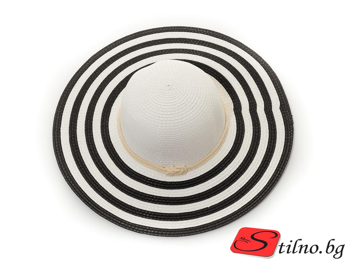 Плажна Шапка H1016-29 - Черно и бяло