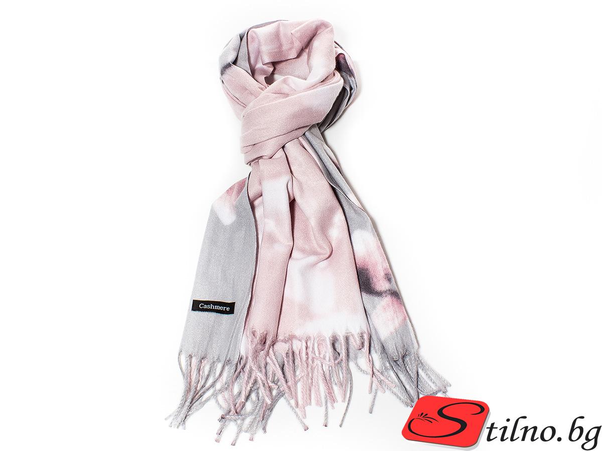 Дамски Шал Кашмир G1035-07 - Розов