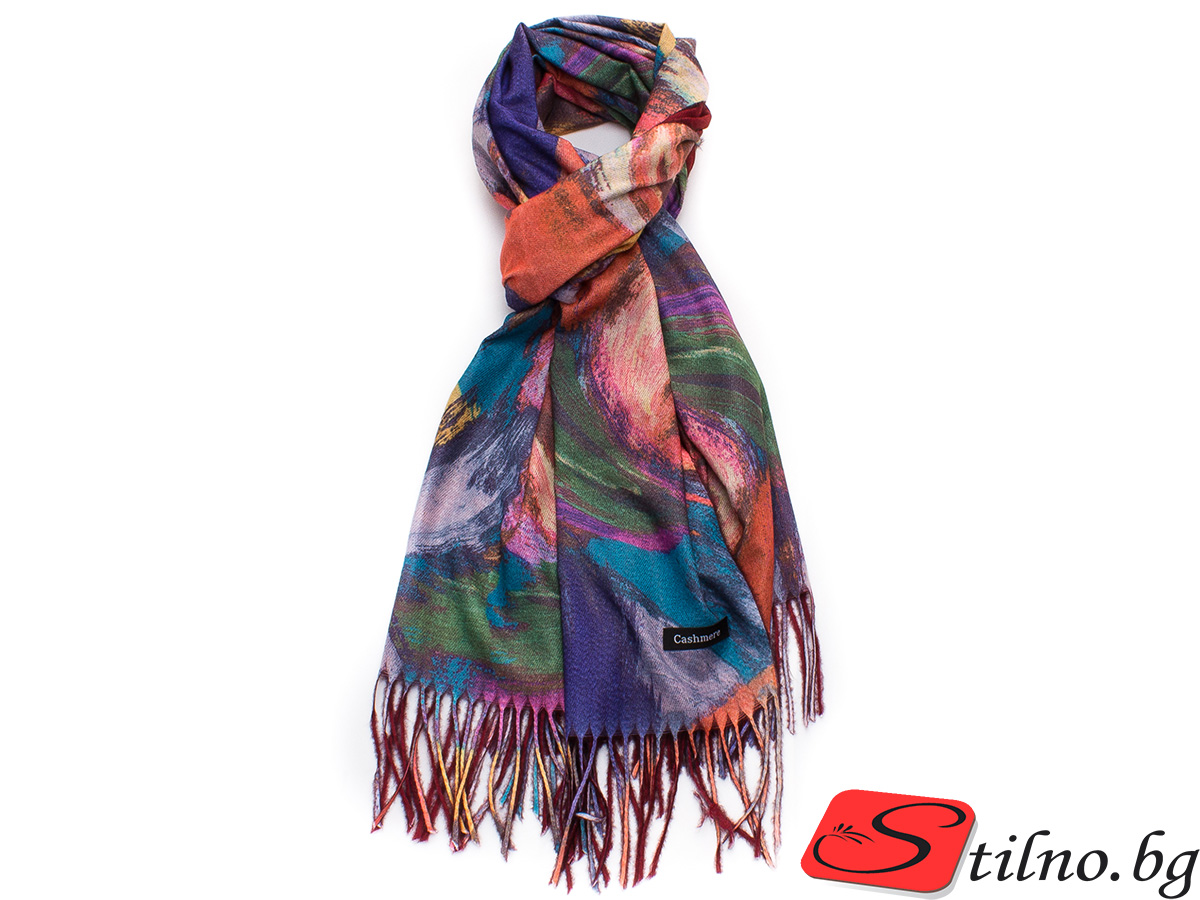Дамски Шал Кашмир G1038-00 - Цветен