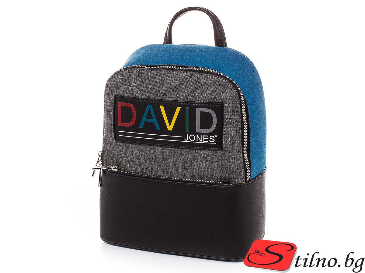 Дамска Раница David Jones 6262-204 - Син